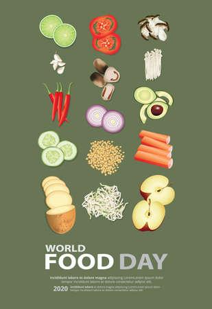 World food day Poster Design Template Vector Illustration