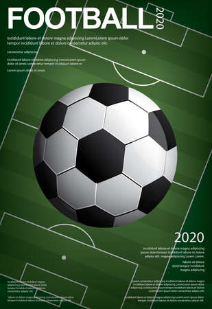 Soccer Football Poster Vestor Illustration Stock Illustratie