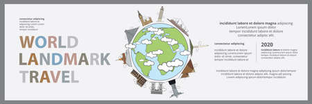 The World tourism day Banner, Billboard Design Template Vector Illustration