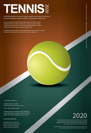 Tennis Championship Poster Vector illustration Stock Illustratie
