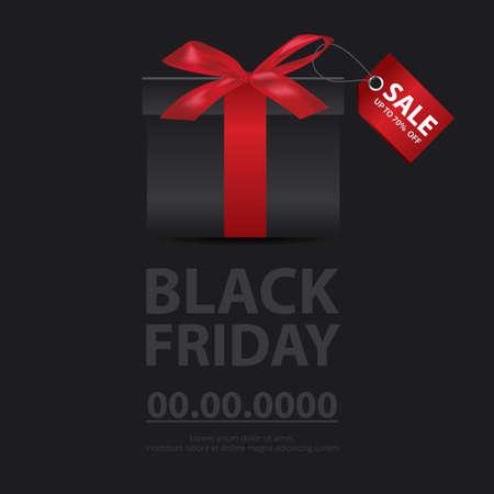 Black Friday Sale Banner Flyer Vector illustration
