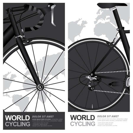 Bike Cycling Poster Vector Illustration