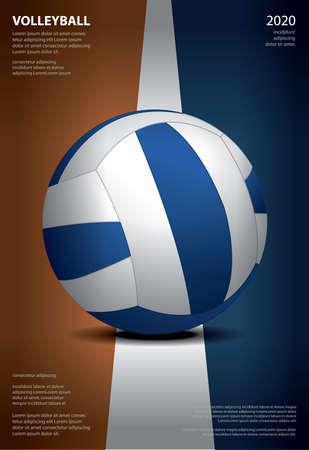 Volleyball Tournament Poster  Template Design Vector Illustration Stock Illustratie