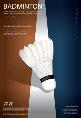 Badminton Championship Poster Vector illustration 向量圖像