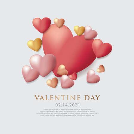 Valentine Day Celebration Background Template Vector Illustration Stock Illustratie
