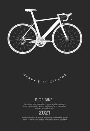 Cycling Poster Vector Illustration Ilustração