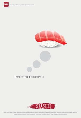 Poster of Sushi Restaurant Vector illustration