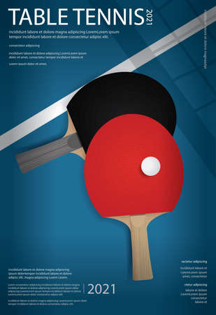 Table Tennis Poster Template Vector Illustration