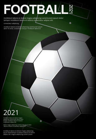 Soccer Football Poster Vestor Illustration Ilustração
