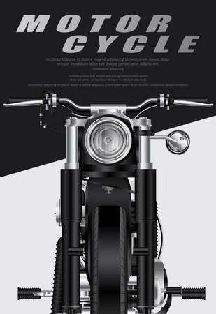 Poster Chopper Motorcycle isolated Vector Illustration Ilustração
