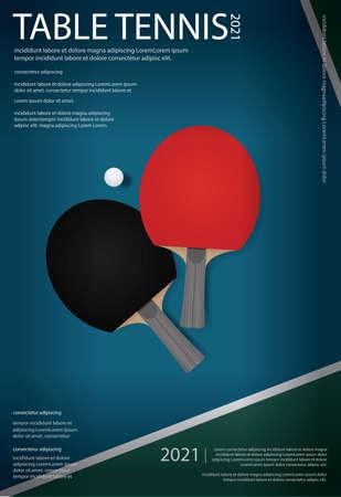 table tennis Poster Template Vector Illustration Ilustração