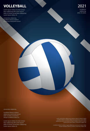 Volleyball Tournament Poster  Template Design Vector Illustration Ilustração