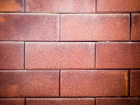 paving stone: Red brick wall Stock Photo