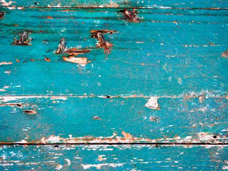Old indigo boat wood