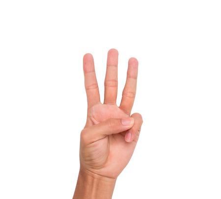 3 本指の手印ポイント上方第 3 3 つの意味、白い背景など