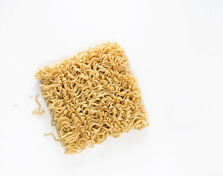 Noodles on white