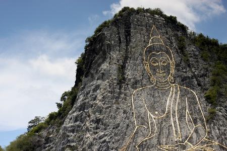 pattaya: buddha mountain in  pattaya  thailand Stock Photo