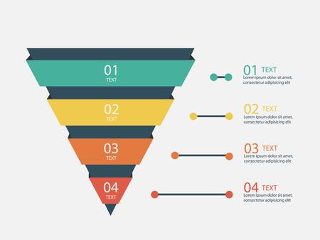 Comercialización Pirámide Infografía Ilustración de vector