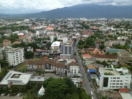 Landskap Chiang Mai, hög vinkel