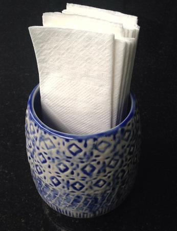 ceramic tissue box Stock Photo