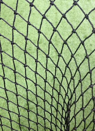 soccer net: Closeup of soccer net Stock Photo