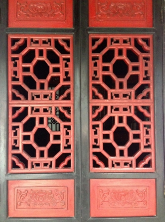 detail: Chinese traditional windows