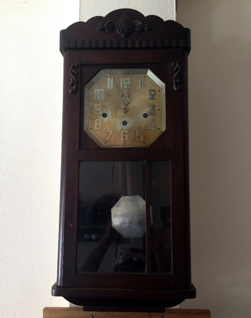colour: Vintage wall clock