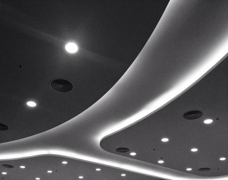 interior: White modern ceiling