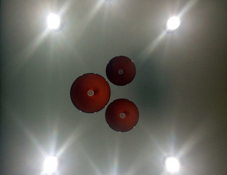 weave: Lamps on the ceiling