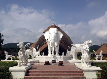 Elephant statue thai style