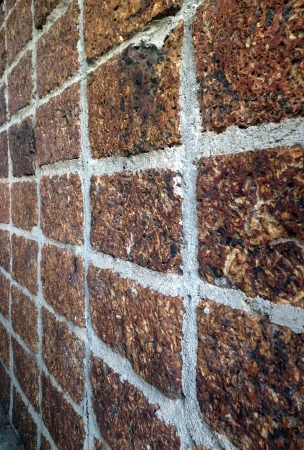 traditional textured: Laterite stone wall background