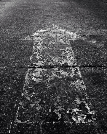 symbol på golvet Stockfoto