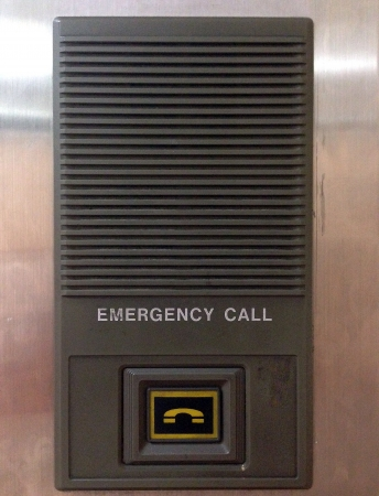 reflective: emergency call in elevator