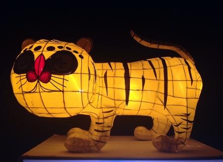 artwork: Paper made artwork for celebrating  Loy Kratong Festival, river goddess worship ceremony