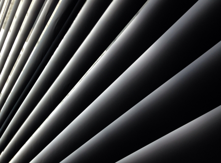 Metal Blinds with drawstring  Roller Shutter Background Stock Photo
