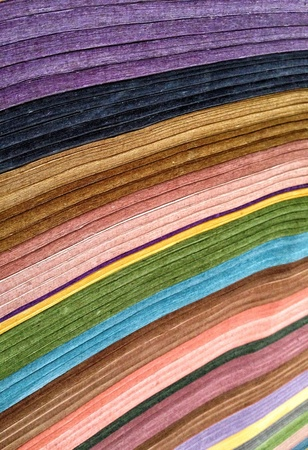 casual wear: colorful fabric textures
