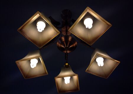 glow: Lamps on ceiling