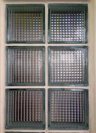 grid: Glass block wall