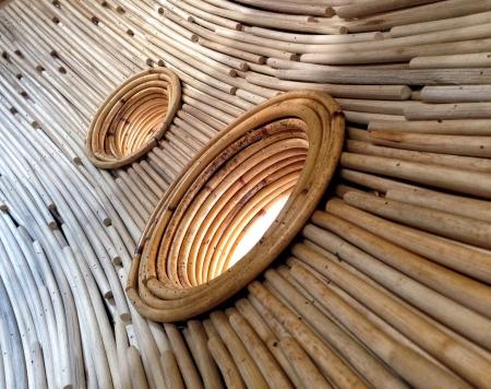 weave: rattan pattern background Stock Photo