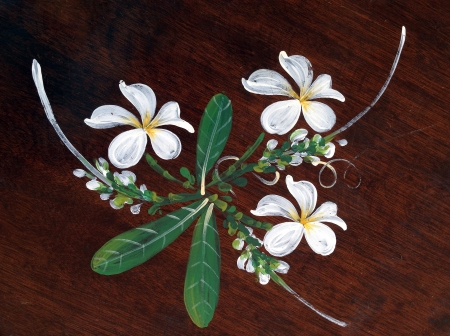 flower on wooden Stock Photo
