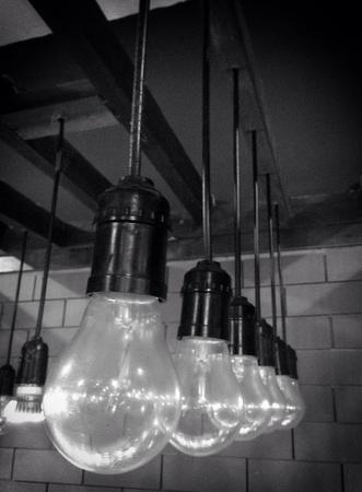 shiny metal: Lamps decor Stock Photo