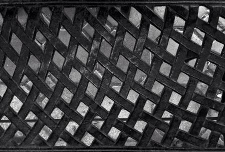 reflective: metal mesh texture