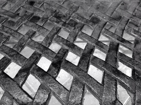 chrome: metal mesh texture