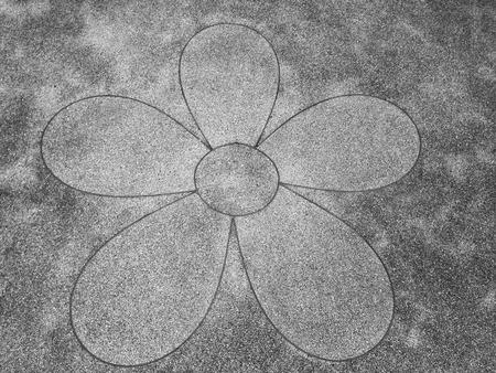 the flower gravel stone floor decoration