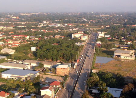 Landscape Chiang Mai city, high angle