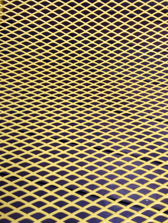 Texture - yellow metal grid