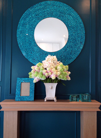 The pastoral style bedroom mirror