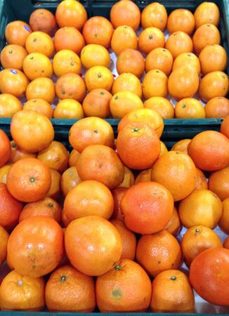 Fruit oranges  in market