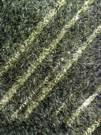 Light and shadow on artificial grass in living room photo