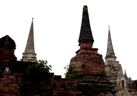 Ancient Buddhist stupa in Temple, Ayutthaya, Thailand